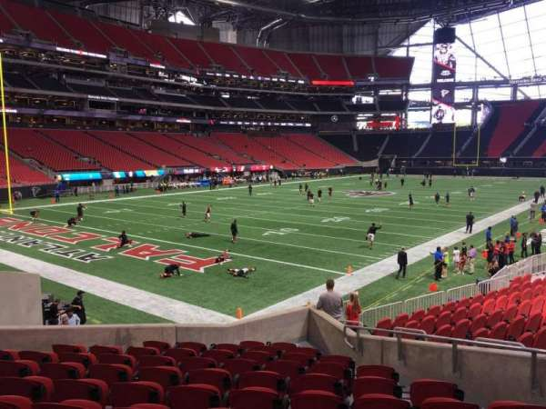 Mercedes-Benz Stadium, section: 116, row: 16, seat: 8