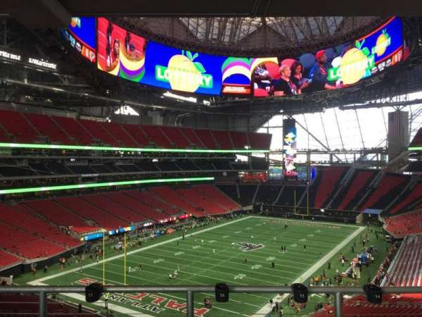 Mercedes-Benz Stadium, section: 220, row: 12a, seat: 16
