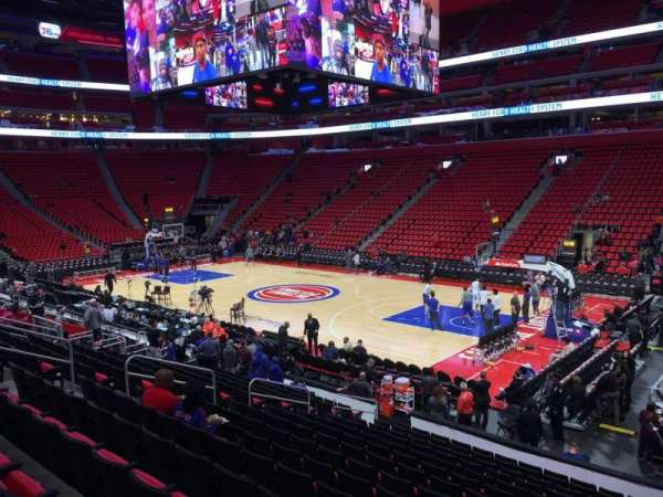 Little Caesars Arena Section 119 Home Of Detroit Pistons
