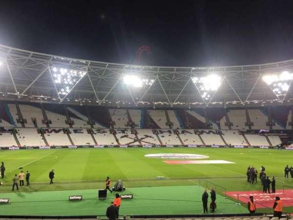 London Stadium, section: 107, row: 20