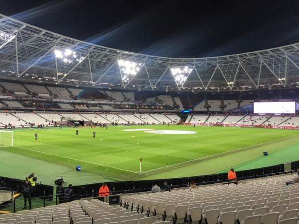 London Stadium, section: 130, row: 25