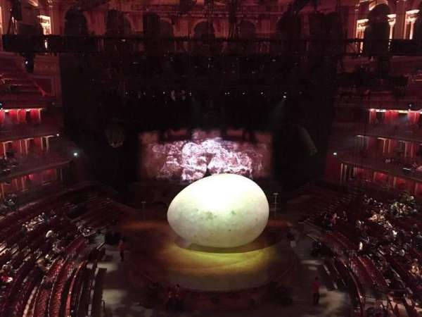 Royal Albert Hall, section: Circle T, row: 1, seat: 105