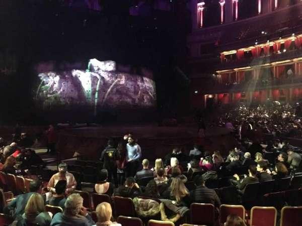 Royal Albert Hall, section: Stalls J, row: 7, seat: 61
