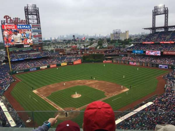 Citizens Bank Park, section: 419, row: 3, seat: 18