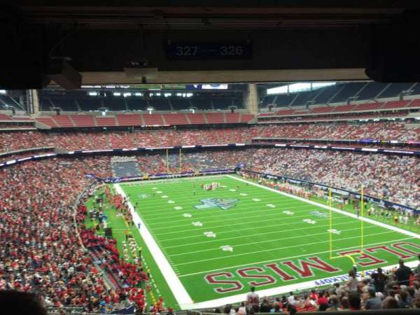 NRG Stadium, section: 327, row: V, seat: 1