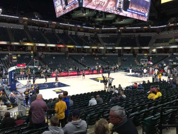 Bankers Life Fieldhouse, section: 18, row: 17, seat: 4