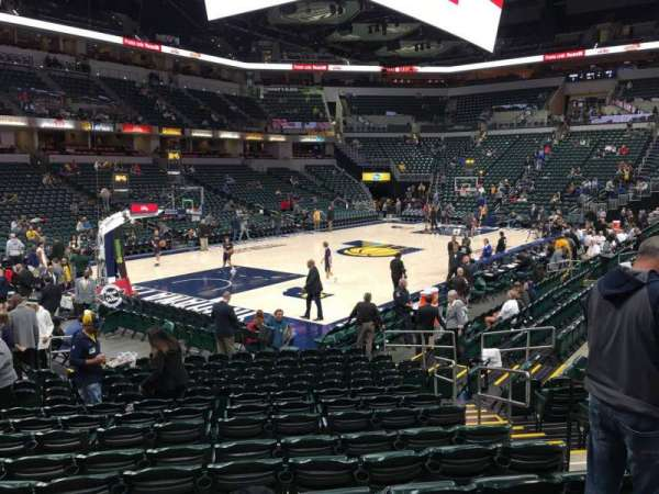Bankers Life Fieldhouse, section: 8, row: 17, seat: 5
