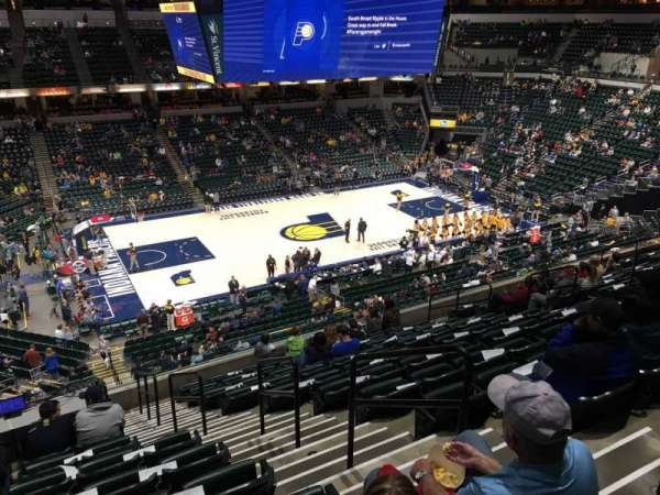 Bankers Life Fieldhouse, section: 106, row: 11, seat: 3