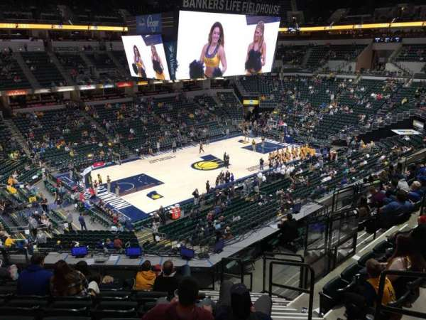 Bankers Life Fieldhouse, section: 107, row: 11, seat: 3