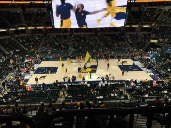 Bankers Life Fieldhouse, section: 105, row: Aca, seat: 3