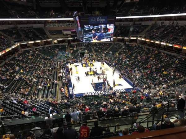 Bankers Life Fieldhouse, section: Varsity Club, row: 1, seat: 130