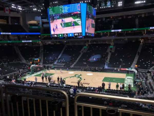 Fiserv Forum, section: 116, row: Aca, seat: 7