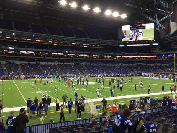Lucas Oil Stadium, section: 142, row: 12, seat: 10