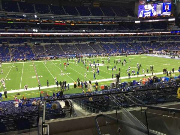 Lucas Oil Stadium, section: 243, row: 52