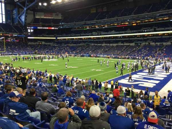 Lucas Oil Stadium, section: 135, row: 16, seat: 6