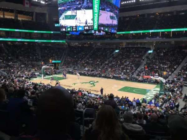 Fiserv Forum, section: 115, row: 22, seat: 21