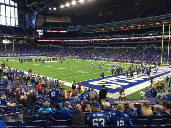 Lucas Oil Stadium, section: 132, row: 17, seat: 19