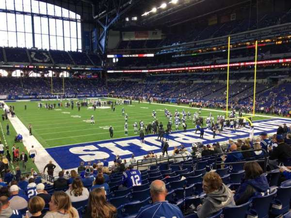 Lucas Oil Stadium, section: 129, row: 22, seat: 11