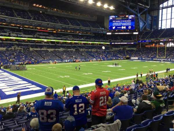 Lucas Oil Stadium, section: 118, row: 20, seat: 10
