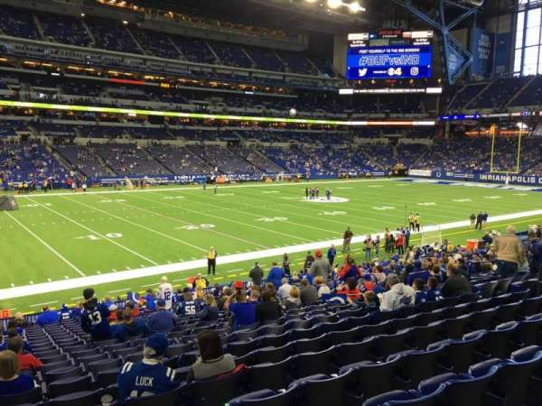 Lucas Oil Stadium, section: 117, row: 22, seat: 15