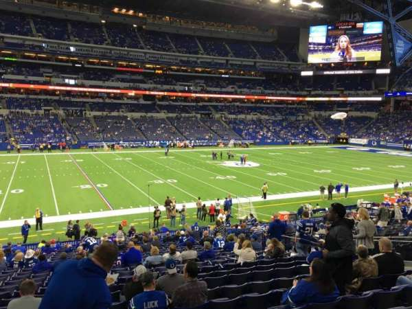 Lucas Oil Stadium, section: 116, row: Aca, seat: 9