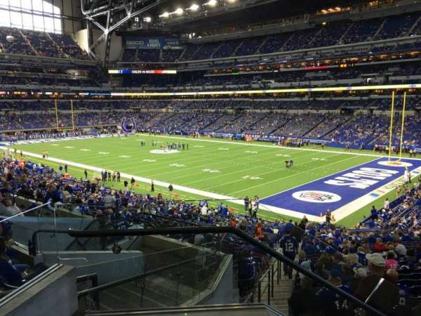 Lucas Oil Stadium, section: 206, row: 2, seat: 17