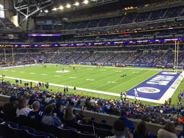 Lucas Oil Stadium, section: 208, row: 7, seat: 12