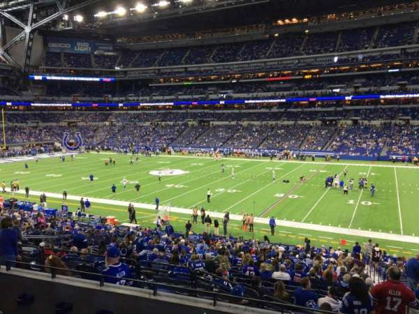 Lucas Oil Stadium, section: 210, row: 4, seat: 3
