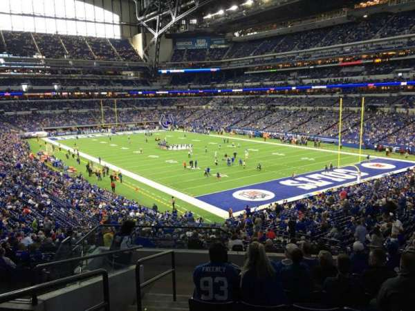 Lucas Oil Stadium, section: 204, row: 9, seat: 19