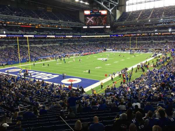Lucas Oil Stadium, section: 249, row: 1, seat: 2