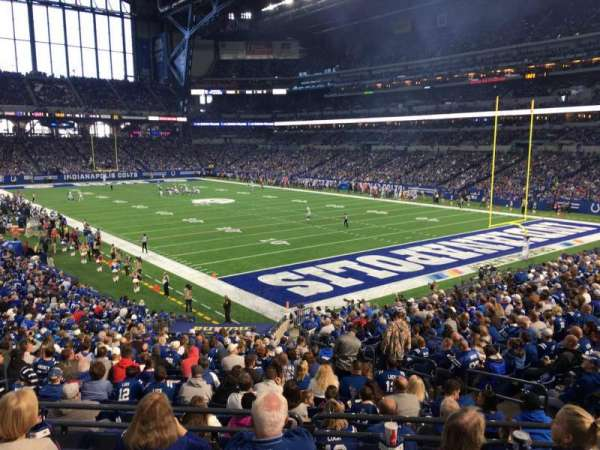 Lucas Oil Stadium, section: 232, row: 1, seat: 8