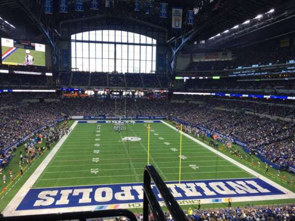 Lucas Oil Stadium, section: 328, row: 5w, seat: 1