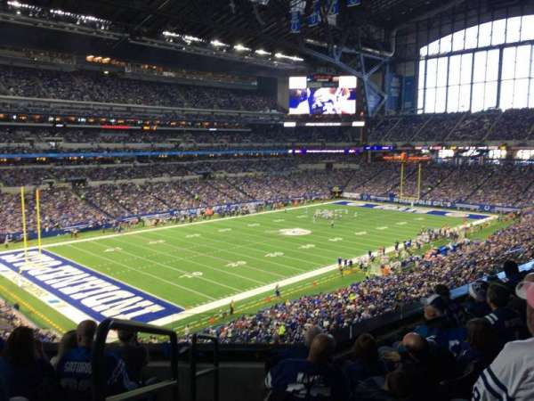 Lucas Oil Stadium, section: 319, row: 5, seat: 20