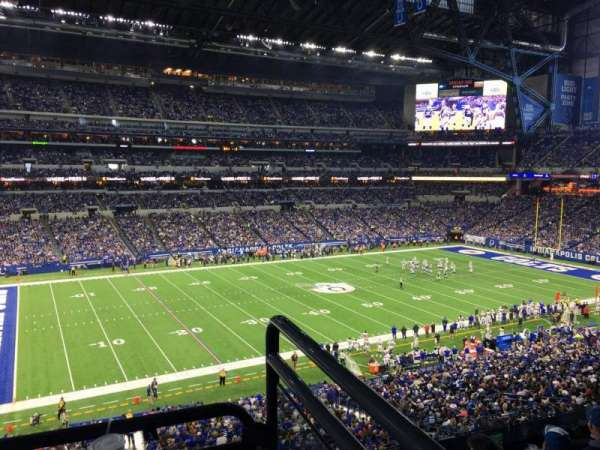Lucas Oil Stadium, section: 317, row: 5w, seat: 1