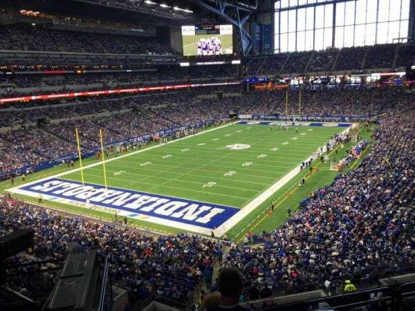 Lucas Oil Stadium, section: 422, row: 2, seat: 1