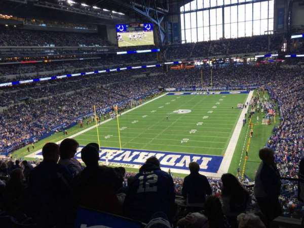 Lucas Oil Stadium, section: 424, row: 6, seat: 1