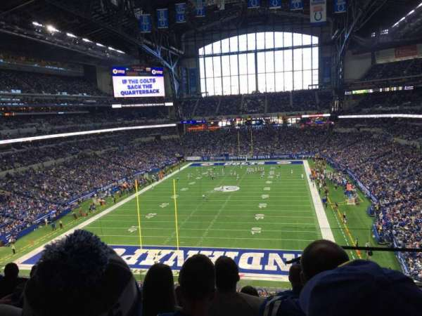 Lucas Oil Stadium, section: 425, row: 6, seat: 1