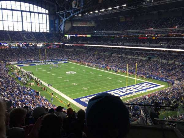 Lucas Oil Stadium, section: 431, row: 7, seat: 1