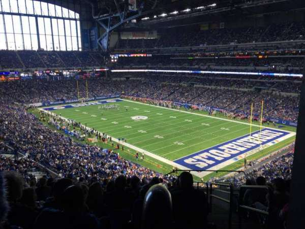 Lucas Oil Stadium, section: 433, row: 13, seat: 1