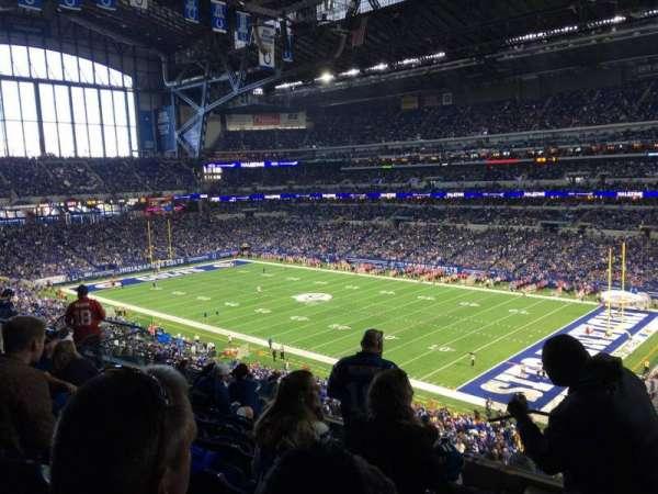 Lucas Oil Stadium, section: 434, row: 8, seat: 1