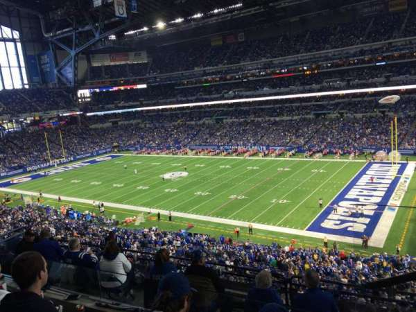 Lucas Oil Stadium, section: 435, row: 3, seat: 1