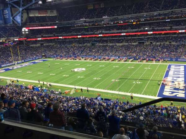 Lucas Oil Stadium, section: 436, row: 3, seat: 1