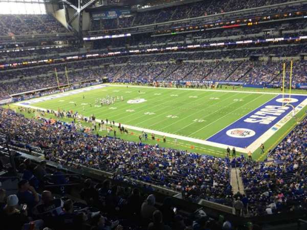 Lucas Oil Stadium, section: 407, row: 2, seat: 1