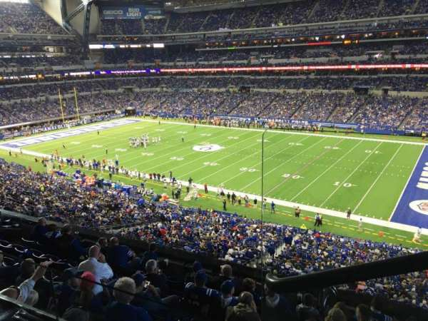 Lucas Oil Stadium, section: 409, row: 2, seat: 1