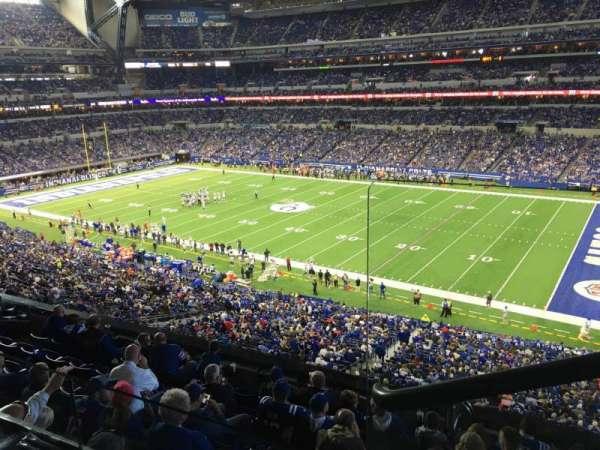 Lucas Oil Stadium, section: 409, row: 2, seat: 1