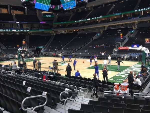 Fiserv Forum, section: 115, row: 8, seat: 10