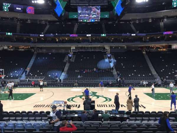 Fiserv Forum, section: 117, row: 10, seat: 12