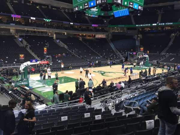 Fiserv Forum, section: 119, row: 12, seat: 10
