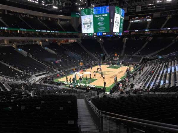 Fiserv Forum, section: 121, row: 28, seat: 1