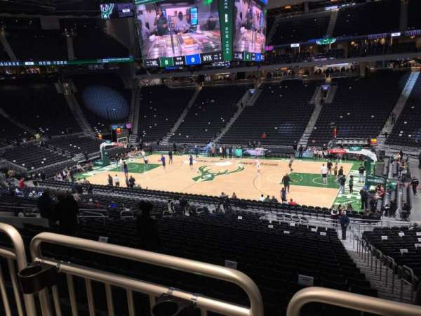 Fiserv Forum, section: 105, row: Aca, seat: 1